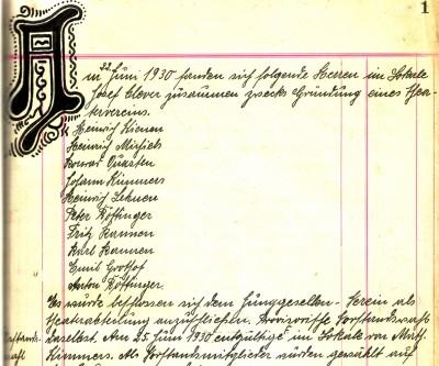 Die Gründungsmitglieder 1930