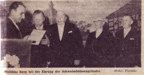 Zeitungsauschnitt 1960